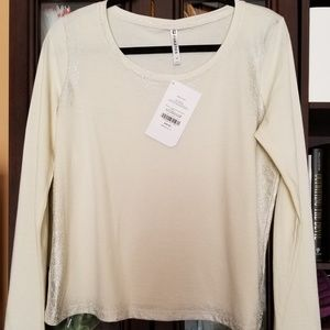 Fabletics long sleeve glitter top